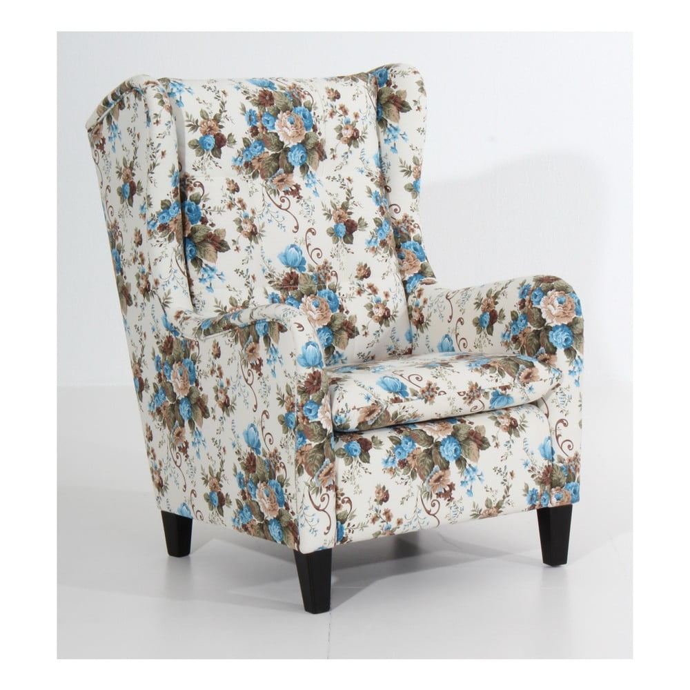 fotoliu nflorat max winzer merlon maro albastru bonami. Black Bedroom Furniture Sets. Home Design Ideas