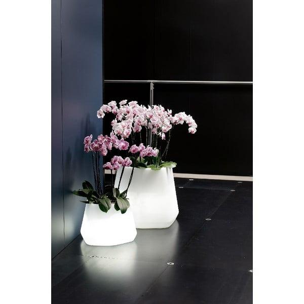 Svítící květináč Ops, 43 cm