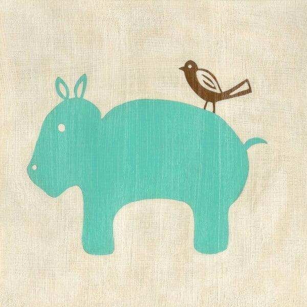 Obraz Hippo, Best Friend, 30x30 cm