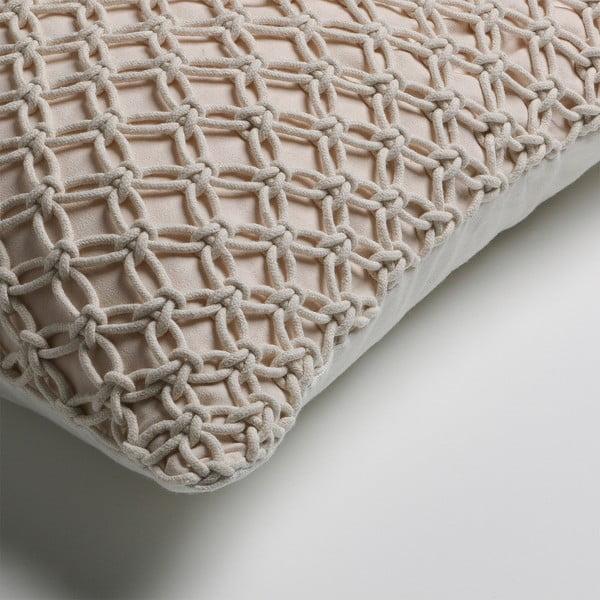 Béžový polštář La Forma Macrame, 45x45cm