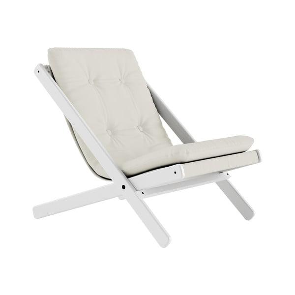 Fotoliu pliant Karup Design Boogie White/Natural