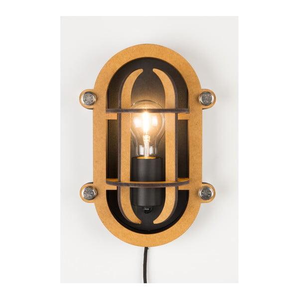 Černá nástěnná lampa Zuiver Navigator