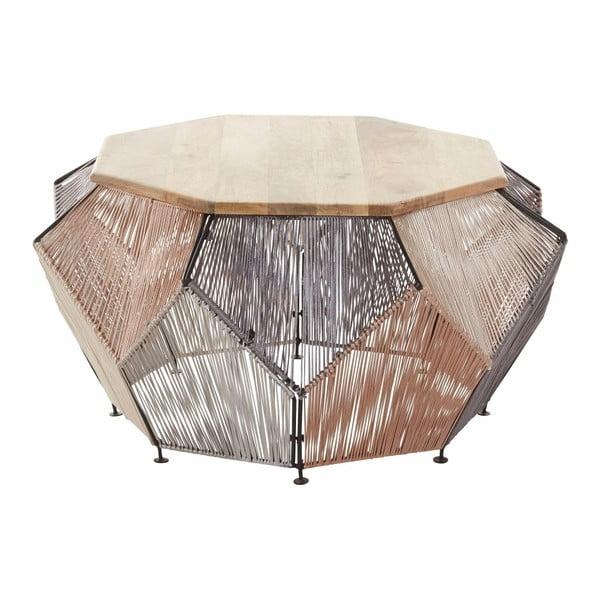 Konferenční stolek z mangového dřeva Støraa Reno,Ø90cm