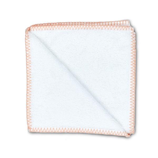 Sada 2 ručníků Whyte 50x90 cm, bílá/lososová