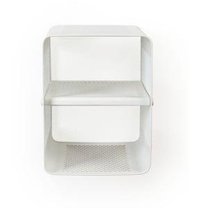 Bílý nástěnný 2patrový botník Tica copenhagen Perforate