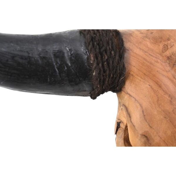 Teaková dekorace býčí hlavy Erosi