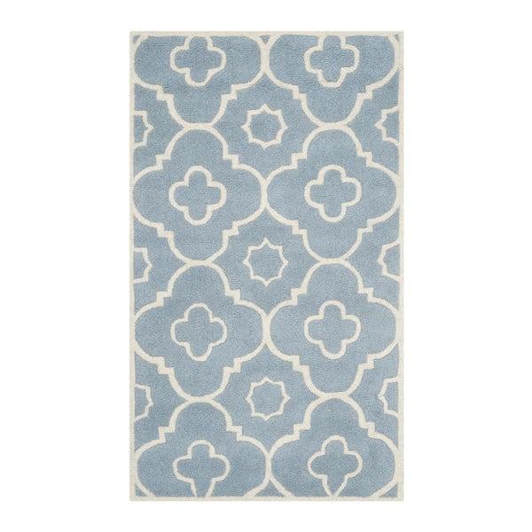 Vlněný koberec Safavieh Alexa Blue, 182 x 121 cm