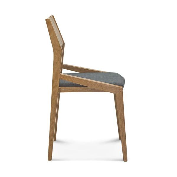 Sada 2 dřevěných židlí s šedým polstrováním Fameg Ingunn