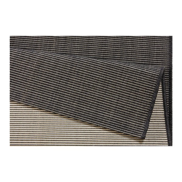 Šedočerný běhoun vhodný do exteriéru Bougari Match, 80x150cm