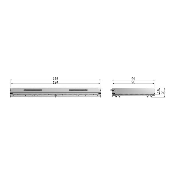 Bílá spodní zásuvka pro postel De Eekhoorn Dennis, 90x200cm