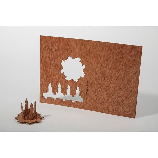 Drevená pohľadnica FORMES Berlin Adventný veniec, 14,8 x 10,5 cm