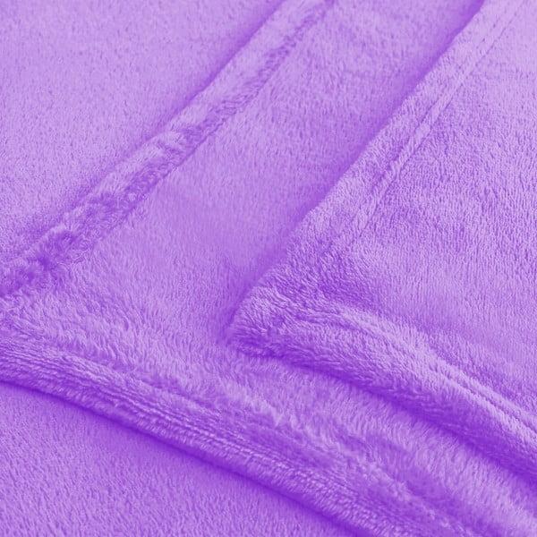 Fialová deka z mikrovlákna Decoking Mic Nina, 160x210cm