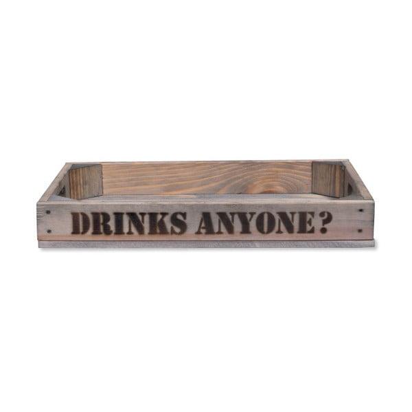 Podnos ze smrkového dřeva Garden Trading Drinks Anyone
