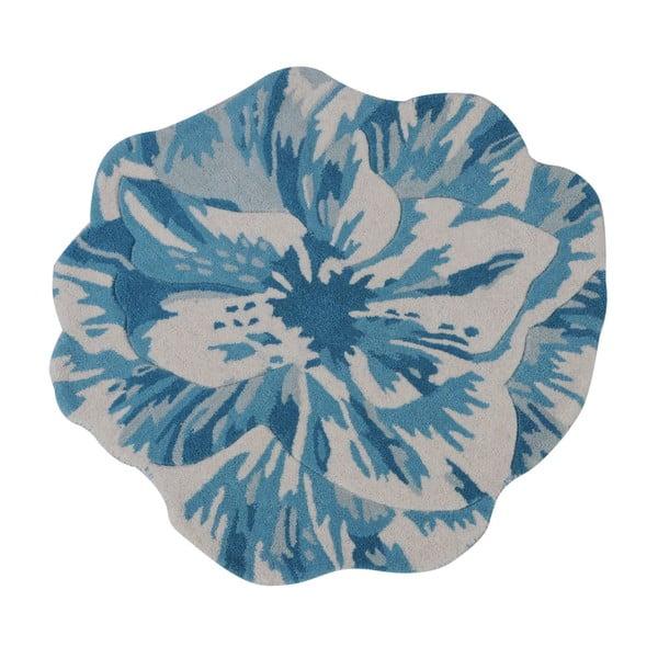 Vlněný koberec Juniper Blue, 90 cm
