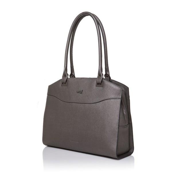 Kožená kabelka Marta Ponti Fusili, šedá