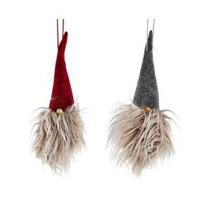 Sada 2 vánočních závěsných dekorativních dekorací KJ Collection Christmasy