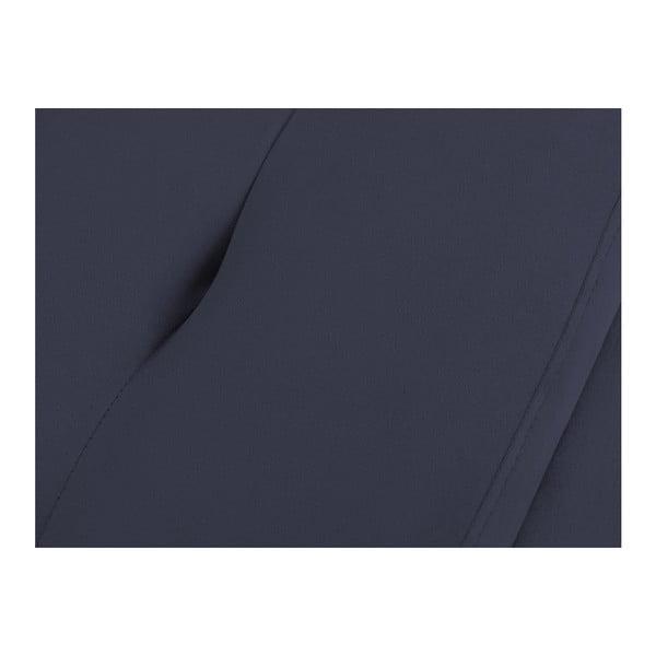 Ladă tapițată cu spațiu de depozitare Kooko Home, 47 x 200 cm, albastru închis