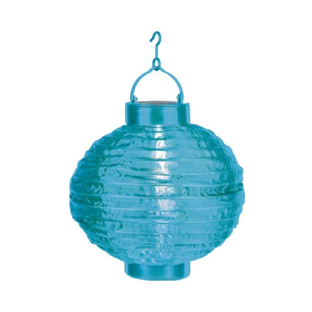 Modrý venkovní solární LED lampion Best Season Summer, ø 30 cm