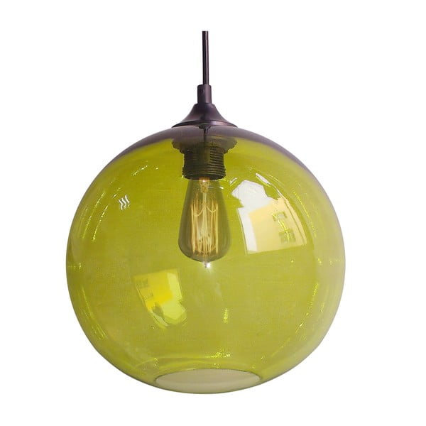 Závěsné světlo Edison, zelené