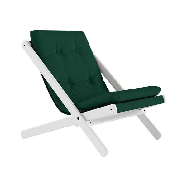 Fotoliu pliant Karup Design Boogie White/Forest Green