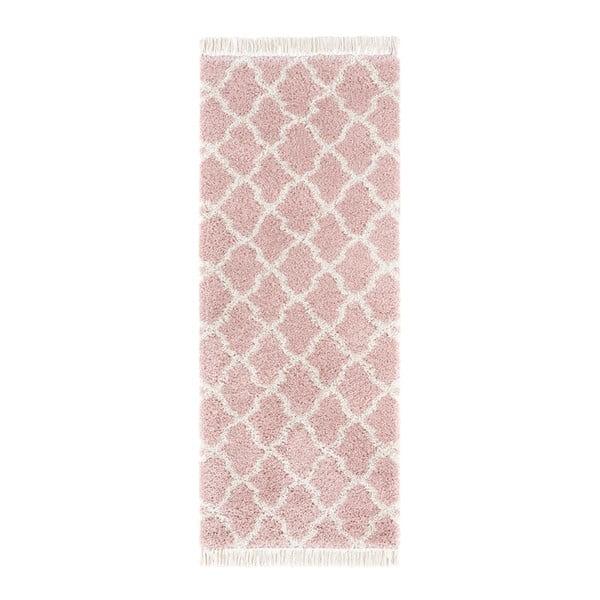 Růžový běhoun Mint Rugs Marino, 80x200cm