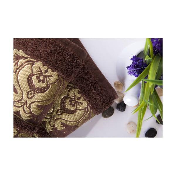 Set dvou ručníků Antik Gold Dark Brown, 50x90 cm