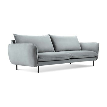 Canapea cu 4 locuri Cosmopolitan Design Vienna, gri deschis de la Cosmopolitan Design