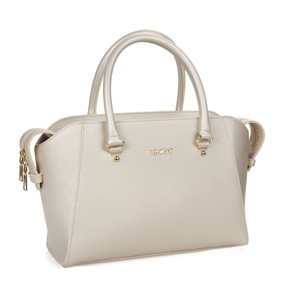 Krémová kabelka se zlatými odlesky Beverly Hills Polo Club Sonia