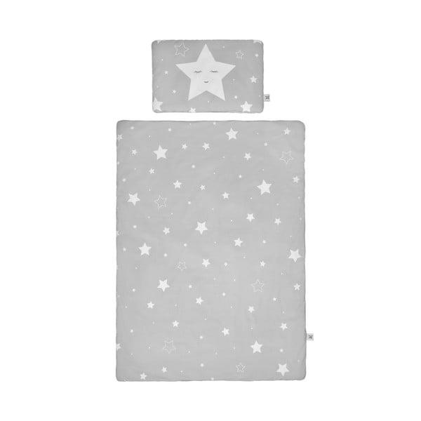 Set păturică matlasată din bumbac și pernă pentru copii BELLAMY Shining Star, 140 x 200 cm