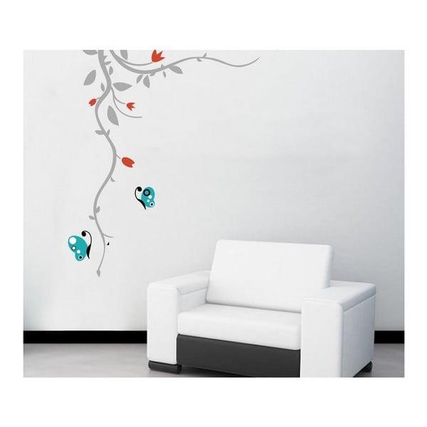 Samolepka na zeď Tyrkysový motýl