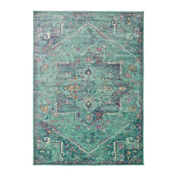 Zelený koberec z viskózy Universal Lara, 160x230cm