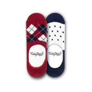 Sada 2 párů nízkých ponožek Funky Steps Dots, velikost 39 – 45