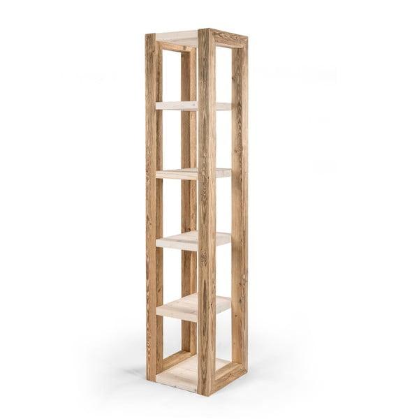 Etajeră din lemn cu rafturi deschise la culoare Antique Wood, înălțime 194 cm