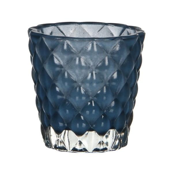 Stojan na svíčku Bent Blue, 8 cm