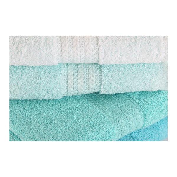 Sada 4 ručníků z bavlny Rainbow Tropical, 50x90cm