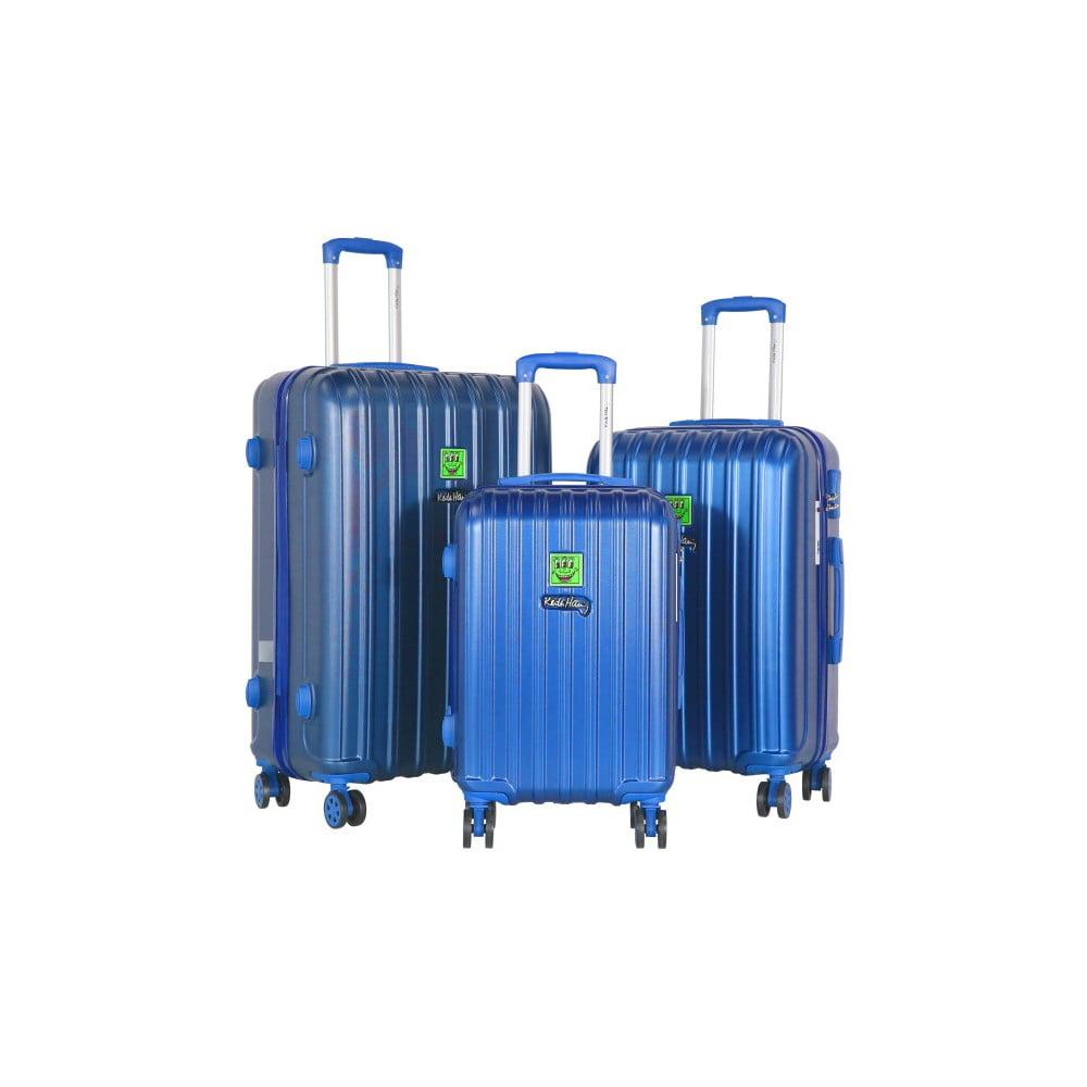 Sada 3 modrých cestovních kufrů LULU CASTAGNETTE Edge