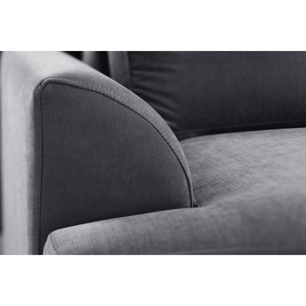 Trojdílná sedací souprava Jalouse Maison Irina, antracitová