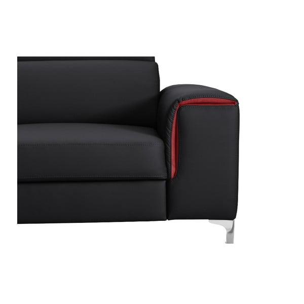 Černo-růžová pohovka Modernist Serafino, pravý roh