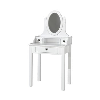Masă de toaletă Vipack Amori, înălțime 136 cm, alb imagine