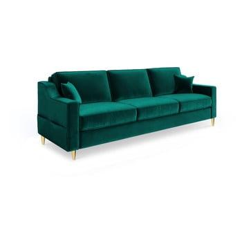 Canapea extensibilă cu 3 locuri Mazzini Sofas Marigold, verde de la Mazzini Sofas