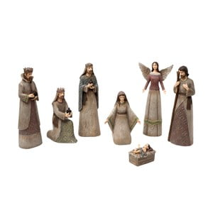 Set 7 figurine decorative Clayre & Eef Christmas Crib Figures