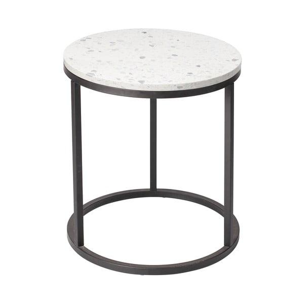 Stolik z kamiennym blatem RGE Bianco, ø 50 cm