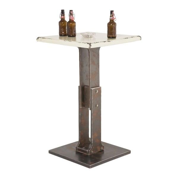 Barový stolek s bílou deskou Kare Design Key, 65x65cm