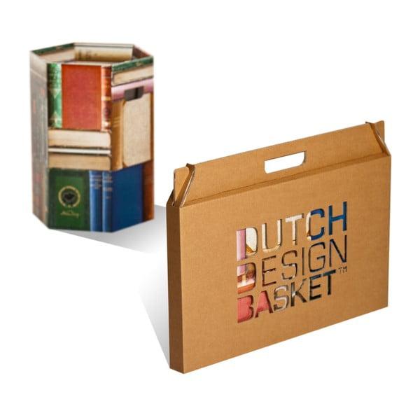 Kartonový odpadkový koš Books