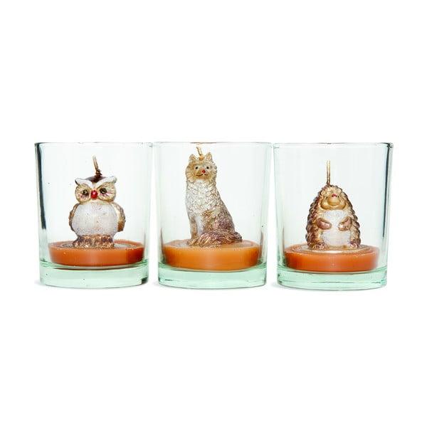 Sada 3 svícnů Owl
