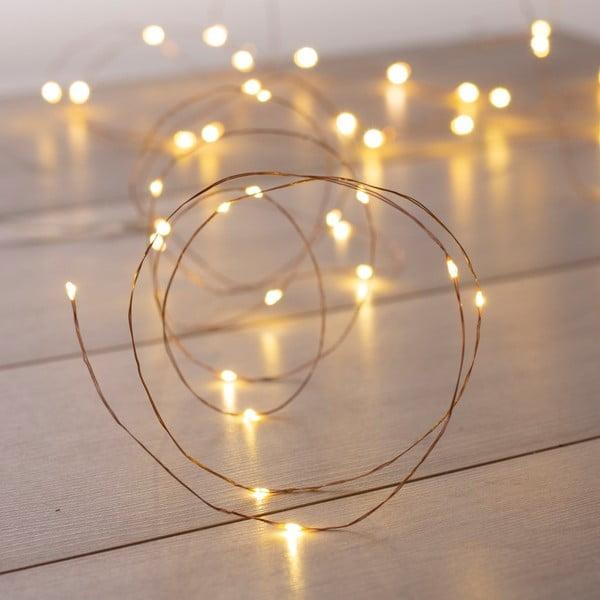 Světelný LED řetez ve stříbrné barvě DecoKing Simple, délka5,3m