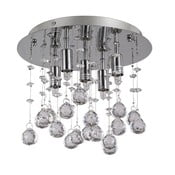 Lustră Evergreen Lights Crido Drops Chrome, ⌀ 26 cm