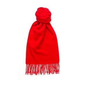 Červená kašmírová šála Hogarth, 180x25cm