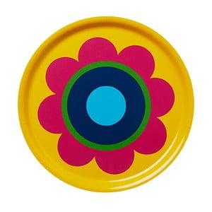 Dřevěný podnos Tray Yellow Flower
