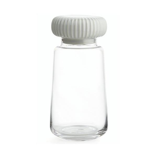 Hammershoi üvegdoboz, fehér agyagkerámia fedéllel, magasság 22,5 cm - Kähler Design
